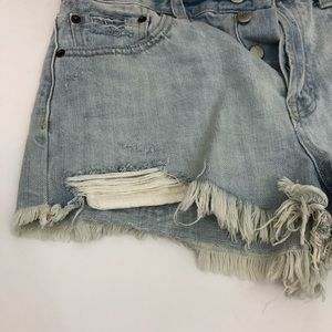 Free People Shorts - Free People NWT Daisy Blue Lace Denim Jean Shorts